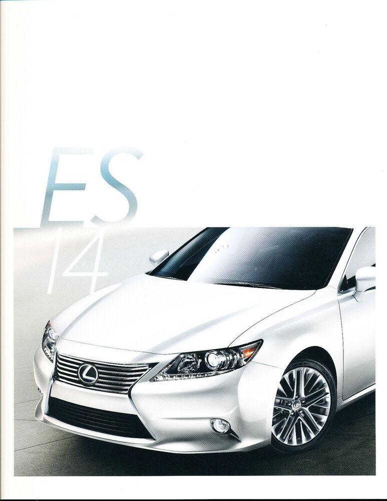 2014 lexus es es350 es300h hybrid 28 page original car sales brochure catalog ebay. Black Bedroom Furniture Sets. Home Design Ideas