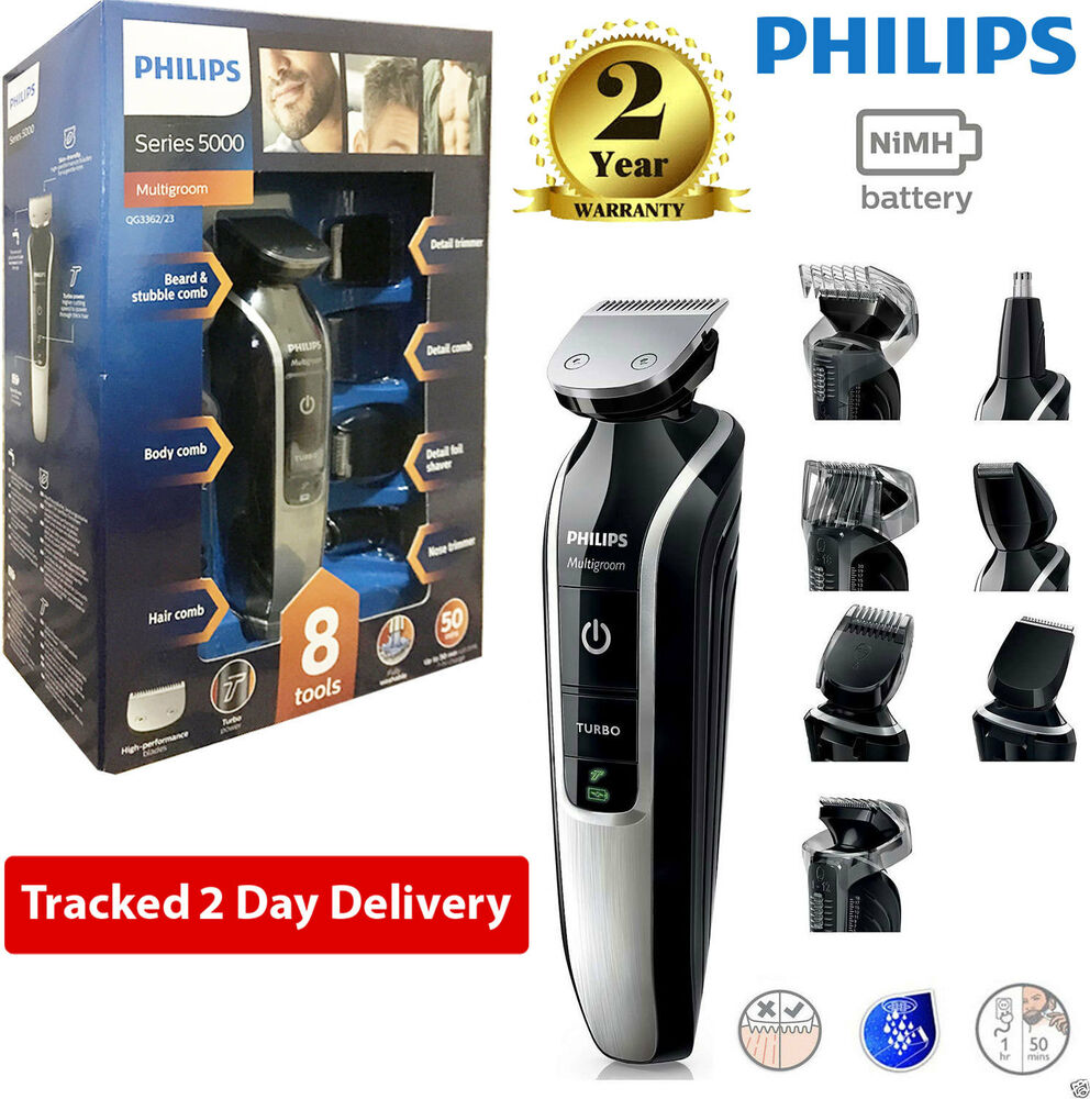 phillips qg3362 23 12 in 1 mens hair beard moustache nose clipper trimmer shaver ebay. Black Bedroom Furniture Sets. Home Design Ideas