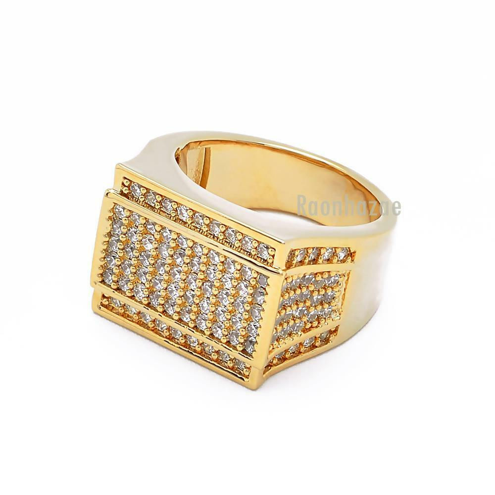 Chunky Mens Rings In Gold