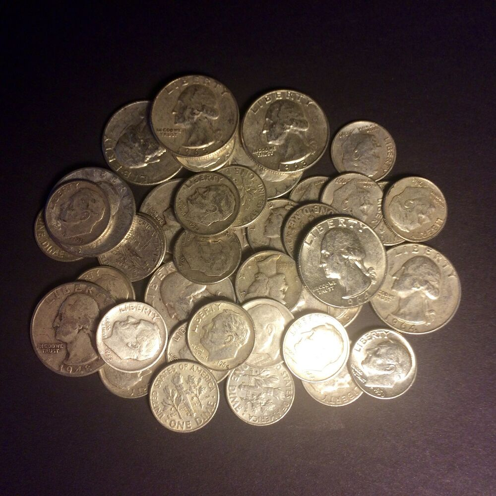 Selling Fast 4 Lb Bag Quarters Dimes U S Silver Coins