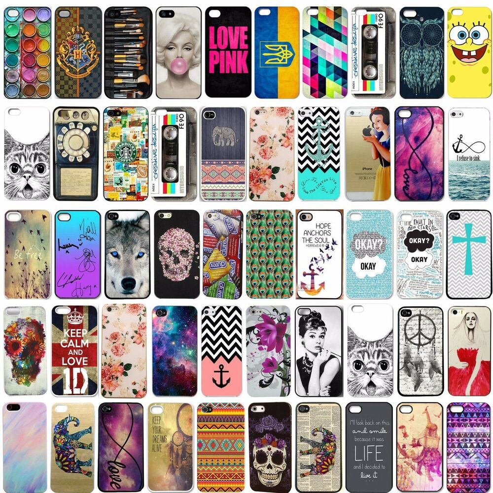 Colorful Painted Pattern hard Case Cover back skin For iPhone 4s 5s/5c ...