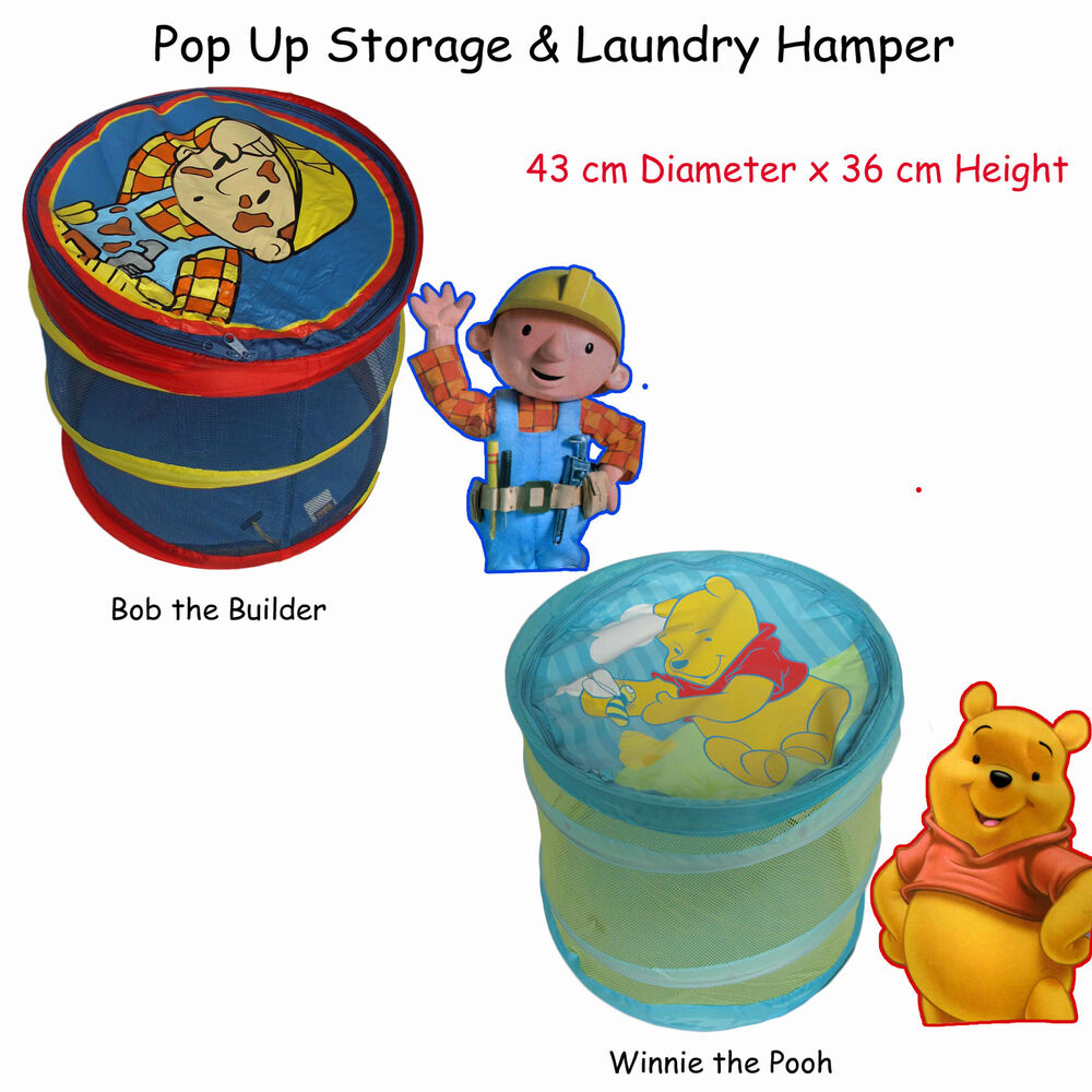 adorable pop up storage laundry hamper winnie the pooh. Black Bedroom Furniture Sets. Home Design Ideas