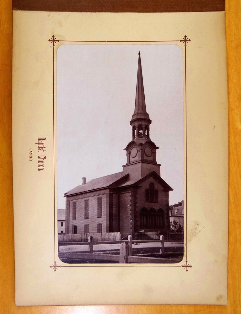 baptist church natick massachusetts ma antique photograph. Black Bedroom Furniture Sets. Home Design Ideas