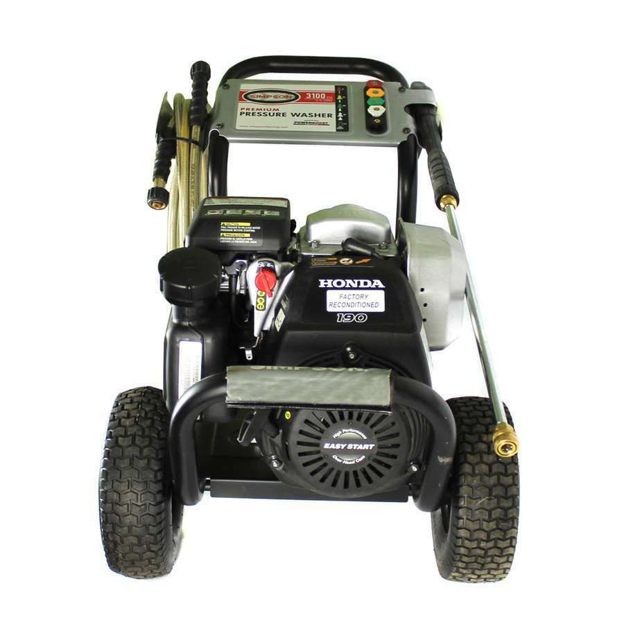 Simpson megashot 3100 psi 2 5 gpm gas cold water for Power washer with honda motor