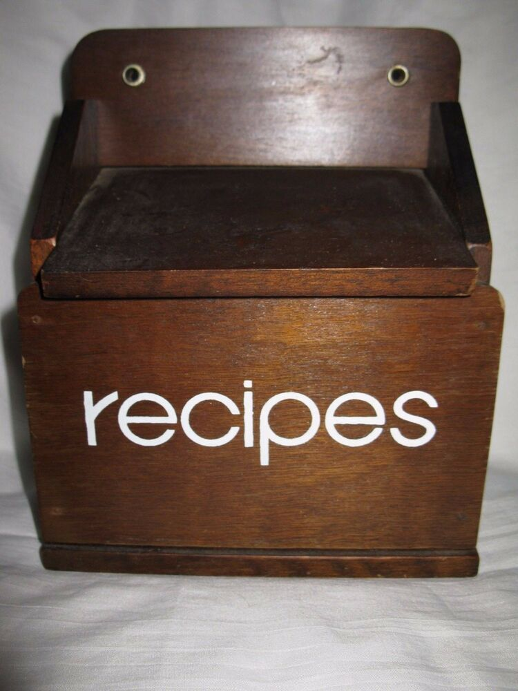 Really. Vintage recipe boxes pity