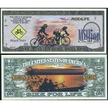 Lot of 500 BILLS - ONE MILLION BIKE / BICYCLE DOLLARS DOLLAR, RIDE FOR LIFE