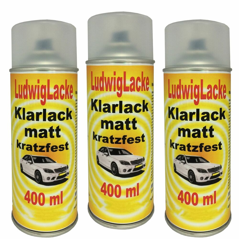 klarlack 3 spraydosen matt je 400ml autolack made in germany versand ebay. Black Bedroom Furniture Sets. Home Design Ideas