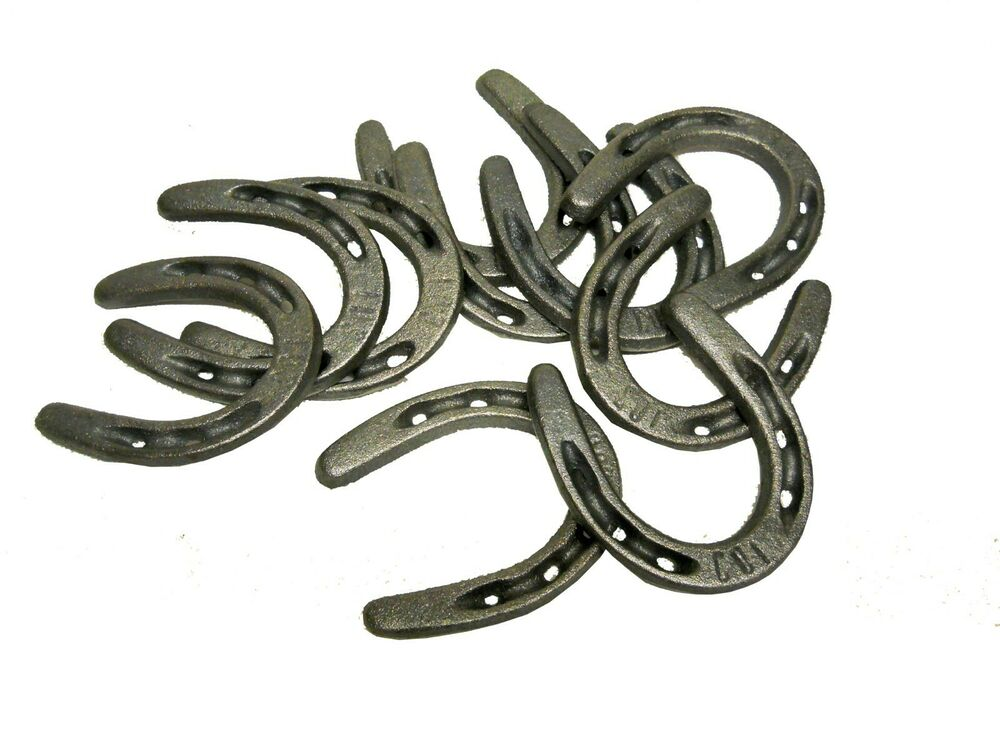 20 pc cast iron horseshoes for decorating and crafts for How to decorate horseshoes