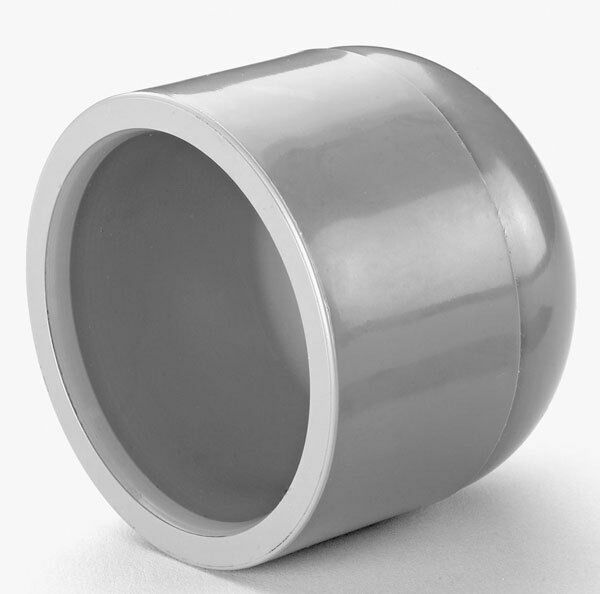 Pvc abs mm quot bsp rounded end cap pipe fitting solvent