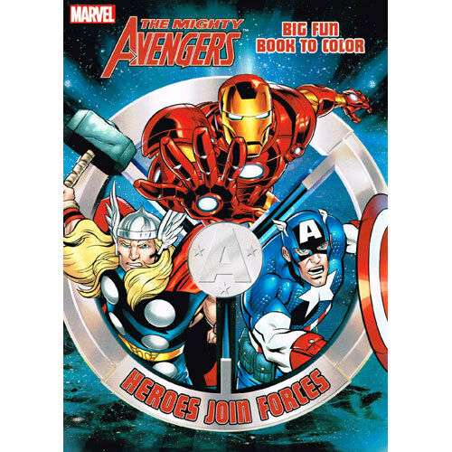 Mighty Avengers Coloring Pages : The mighty avengers coloring and activity book superhero