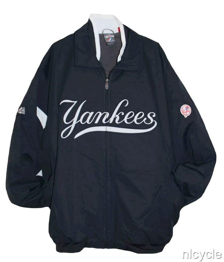 NEW YORK YANKEES MLB AUTHENTIC MAJESTIC PREMIER DUGOUT JACKET 3XL 4XL | EBay