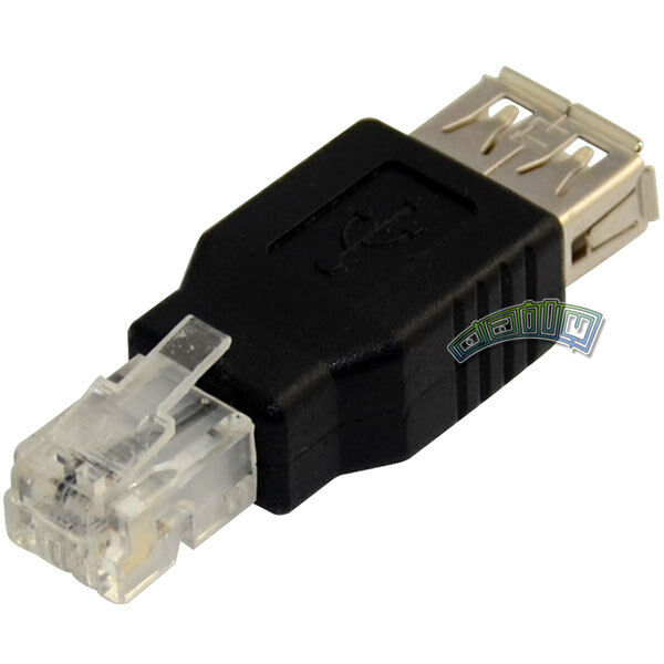 Usb A Female To Rj11 4pin Ethernet Network Converter
