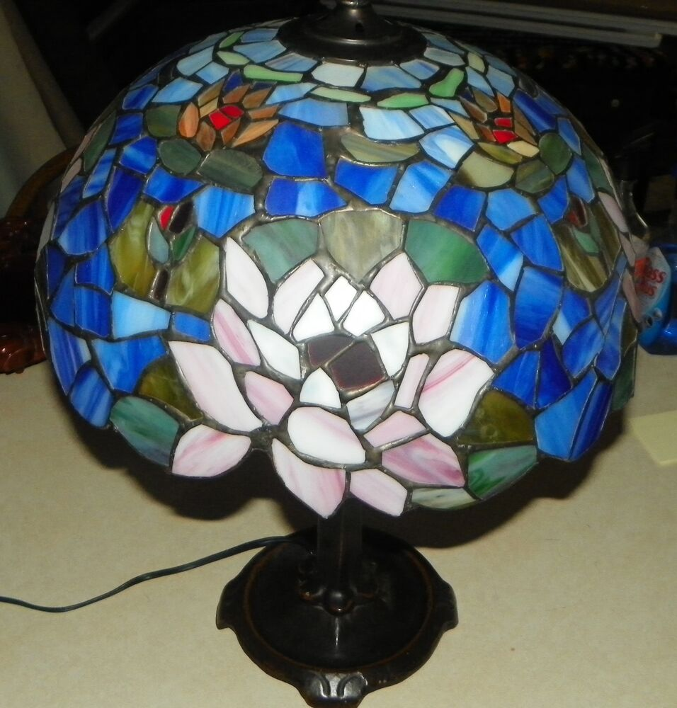 Stained Glass Lamp Shades For Table Lamps : Stained glass lamp shade table ebay