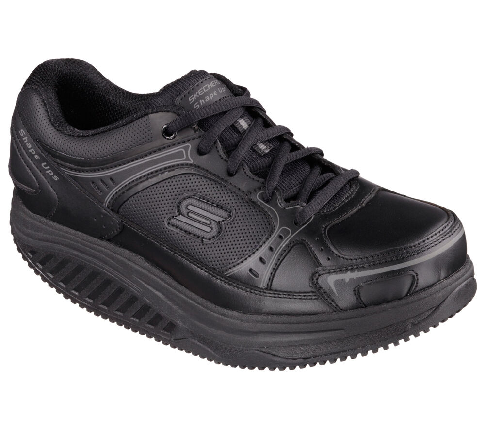 76557 Black Skechers Shoes Womenu0026#39;s Work New Shape Ups Memory Foam Slip Resistant | EBay