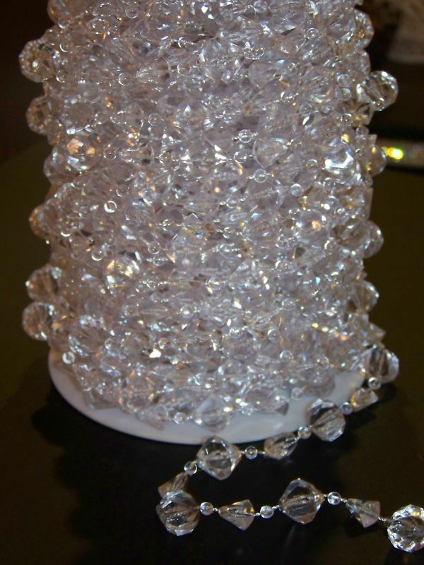 60ft Iridescent Large Acrylic Crystal Garland Beads Ebay