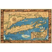 Long Island New York 1933 Historic Map - 20x30