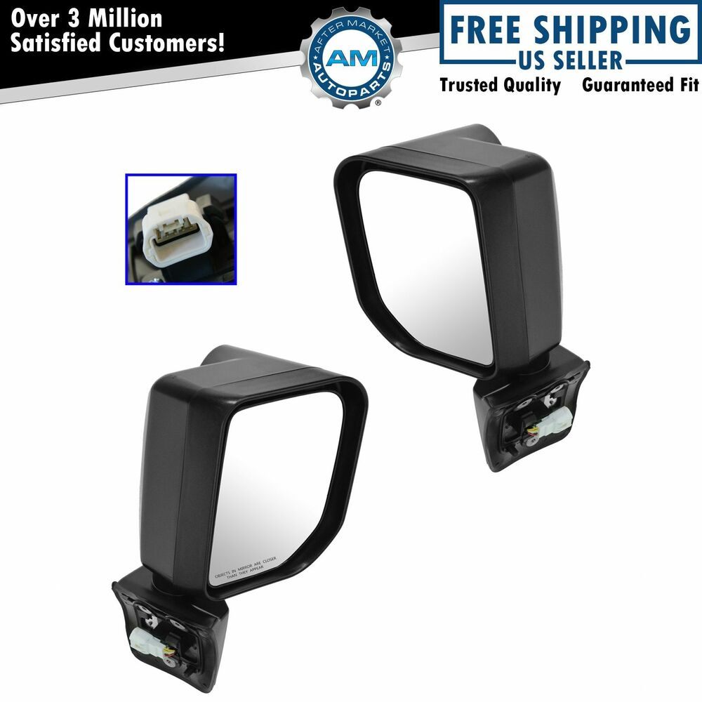 Mirror Power Signal Black Left Right Side Pair For 07 14