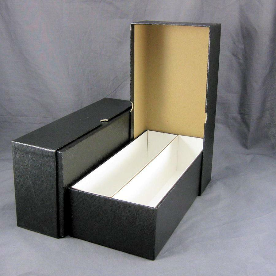 2 black double row cardboard coin slab storage boxes for for Money storage box