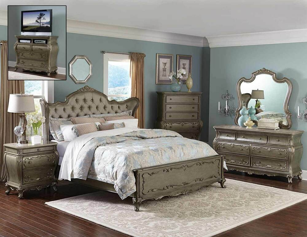 Florentina French Traditional Bedroom Set 5 Piece On Sale