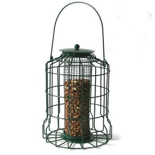 New Metal Squirrel Proof Bird Feeder Hanging Caged Guard