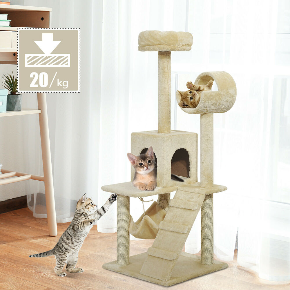 52 Quot Cat Scratching Tree Tower Condo Pet Bed Kitten House