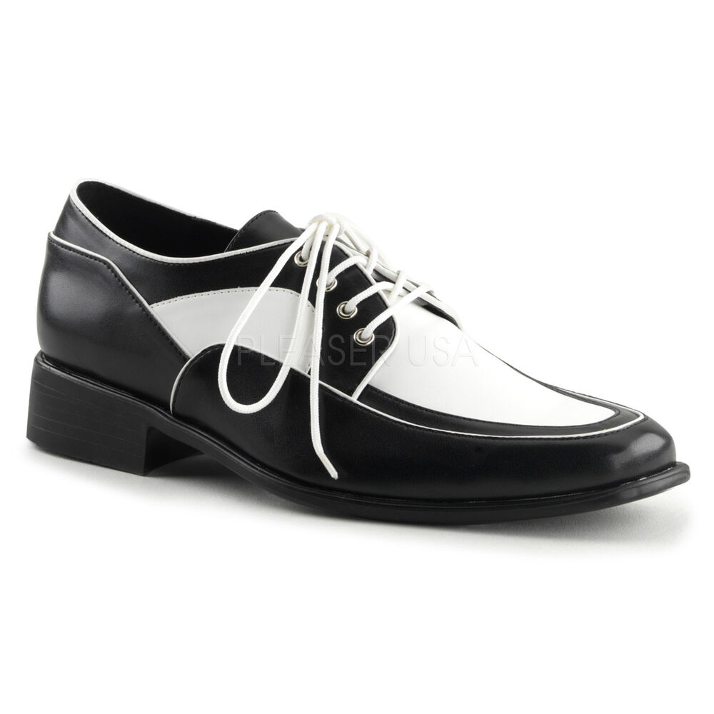 black white mens 50s rockabilly creepers greaser