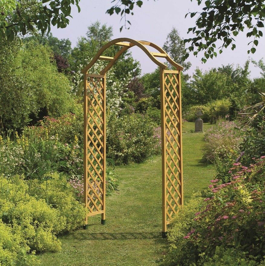 Tan Wooden Garden Arch Timber Archway Wood Arch