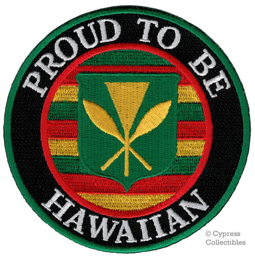 Proud to be hawaiian embroidered iron on patch hawaii