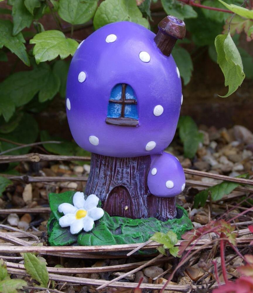 Fairy home toadstool house incense burner or garden for Home garden accessories