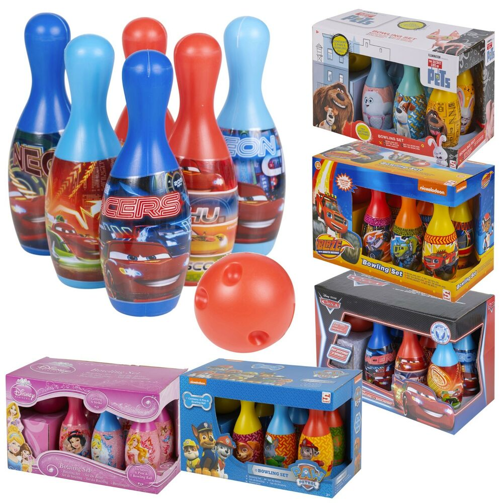 Best Disney Toys And Games For Kids : Kids disney bowling set skittles toy indoor outdoor