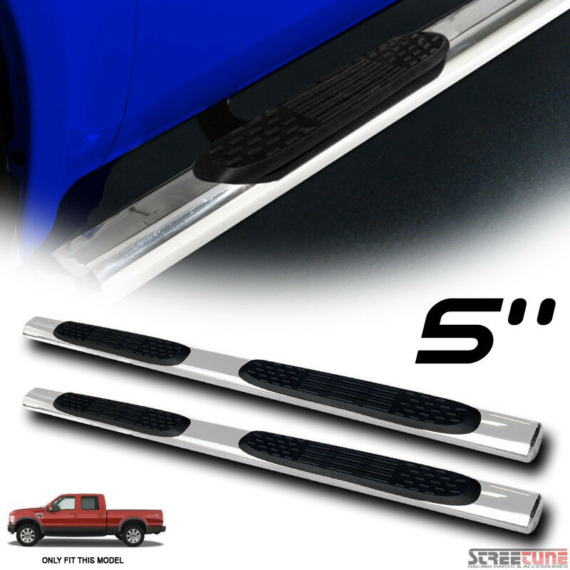 5 stainless side step nerf bars running board for 99 16 ford f250 f350 crew cab ebay. Black Bedroom Furniture Sets. Home Design Ideas