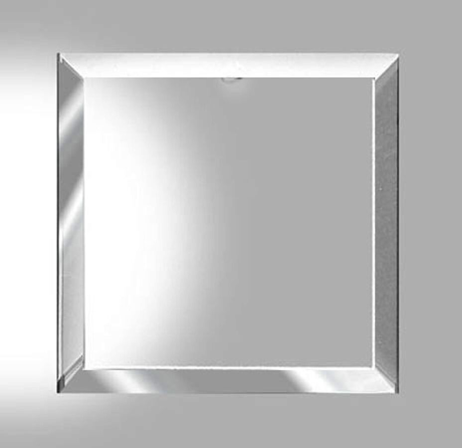 2 Large 5 X 5 Inch Square Clear Beveled Glass Flat