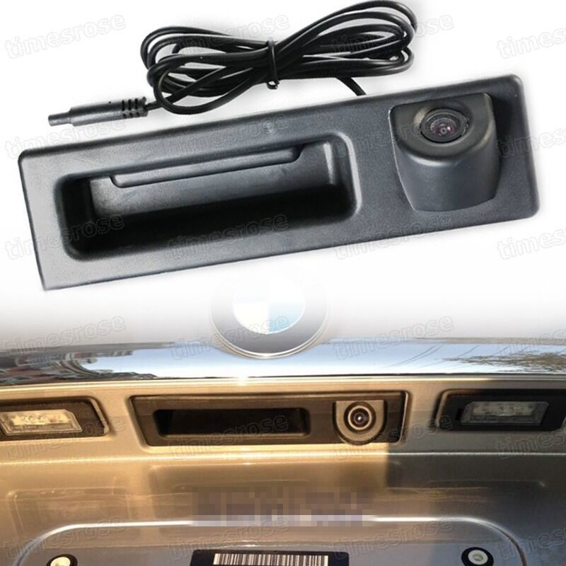 Car Trunk Handle Ccd Rear View Backup Camera For Bmw 3
