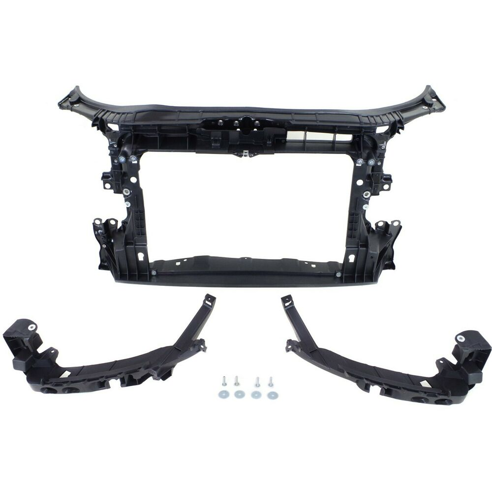 radiator support for 2009 2013 audi a3 quattro a3 black assembly ebay. Black Bedroom Furniture Sets. Home Design Ideas