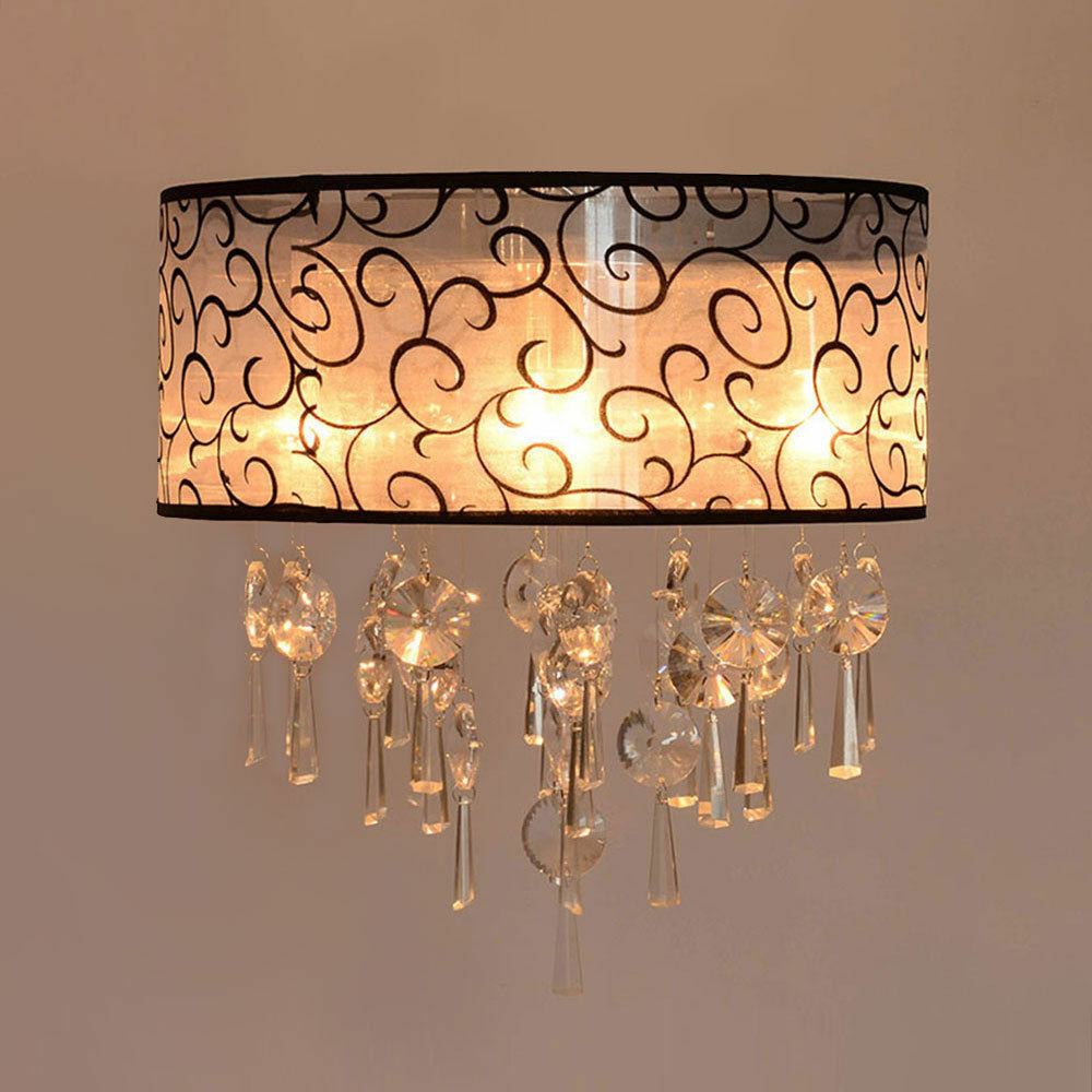 Modern Fixture Ceiling Lighting Crystal Pendant Chandelier For Living Room Ebay