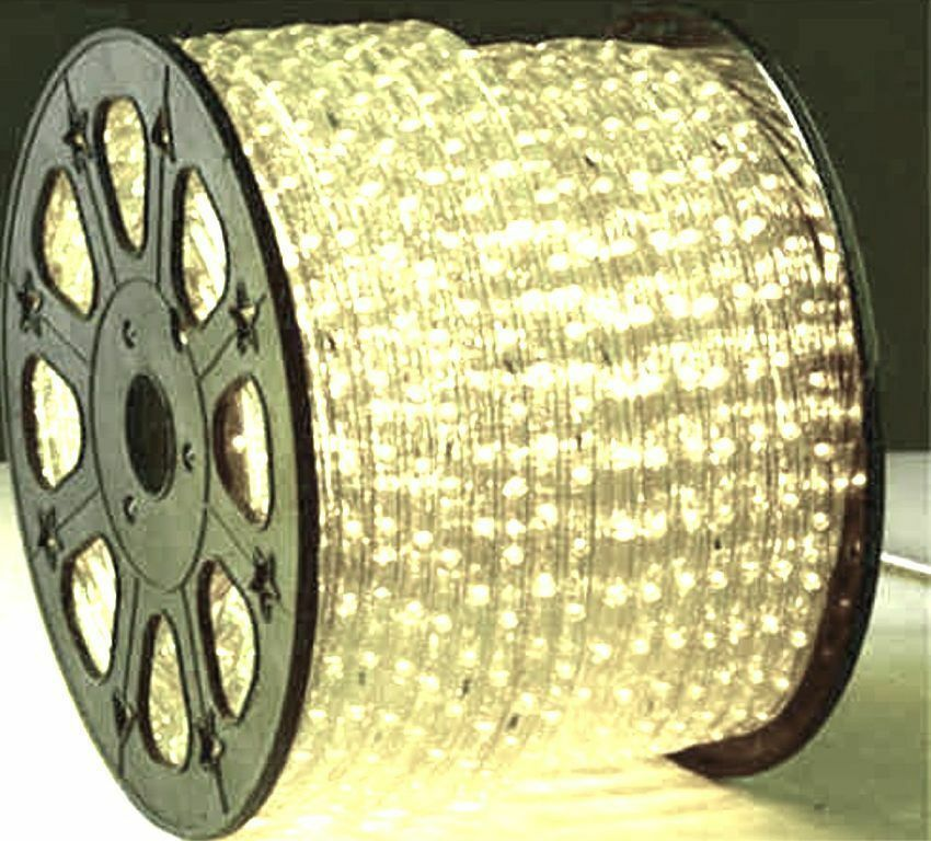 100 Feet Warm White Led Rope Light Strips 3 8 Quot 110v