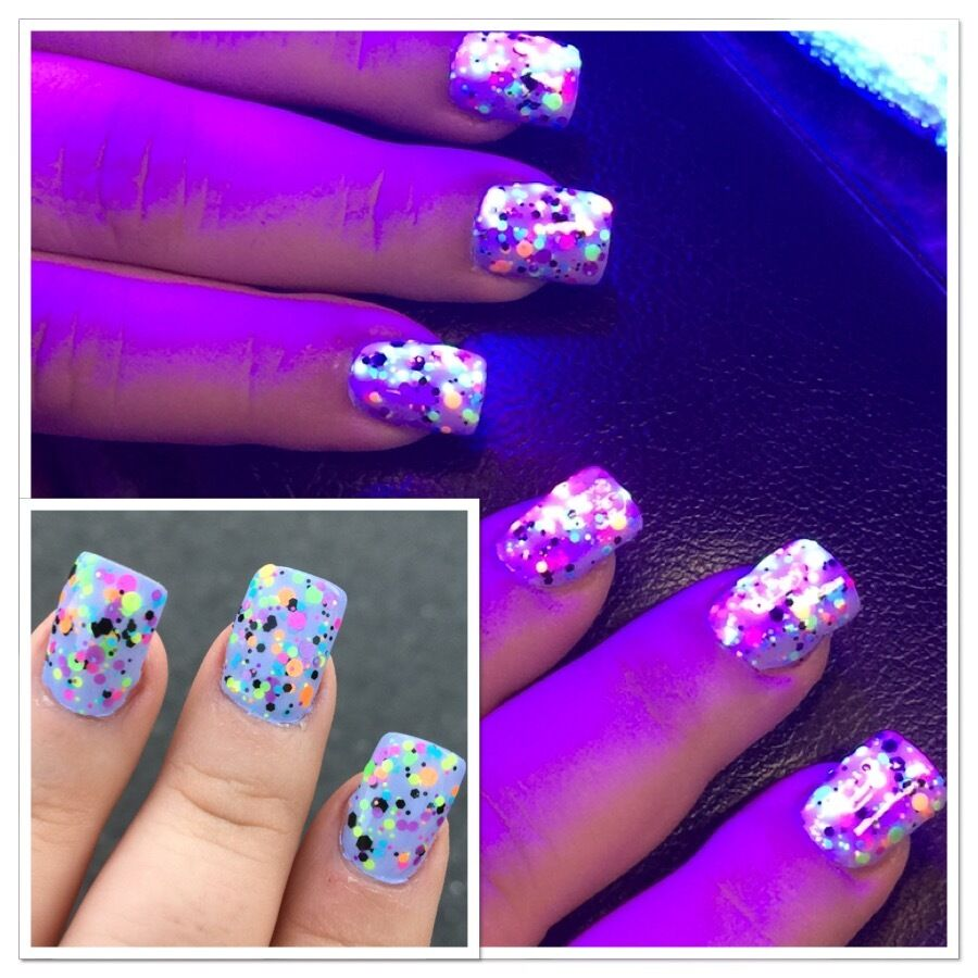 Polish Me Silly UV Blacklight Reactive Neon Glitter Nail