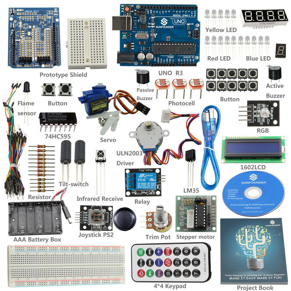 Sunfounder uno r lab starter basic kit for arduino