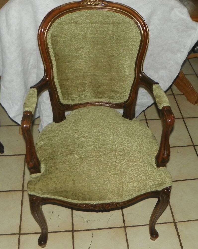 Mahogany French Carved Armchair Parlor Chair Ac162 Ebay