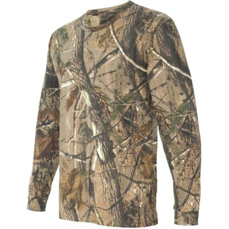 img-GENTS LONG SLEEVED OAK TREE CAMO HUNTING T-SHIRT Mens sizes shooting cotton top