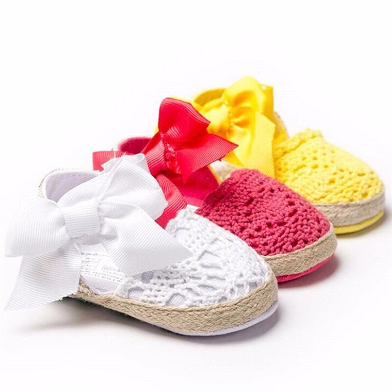 Baby Infant Kids Girl Soft Sole Crib Toddler Newborn Shoes ...