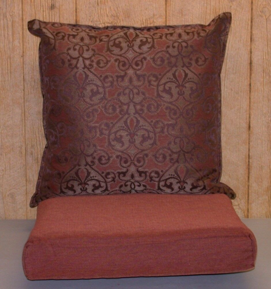 outdoor seat cushions outdoor jacquard seat cushion set rust brown 28508