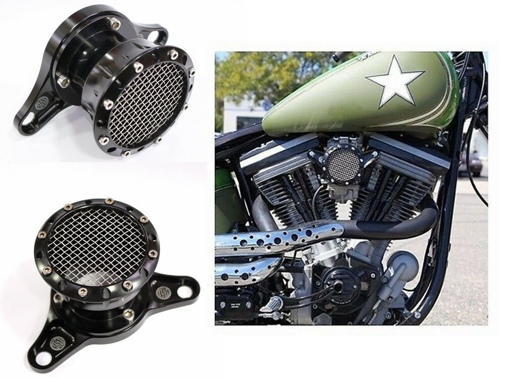 Volocity Stacks Chopper Air Cleaner : Black velocity stack for harley sportster xl