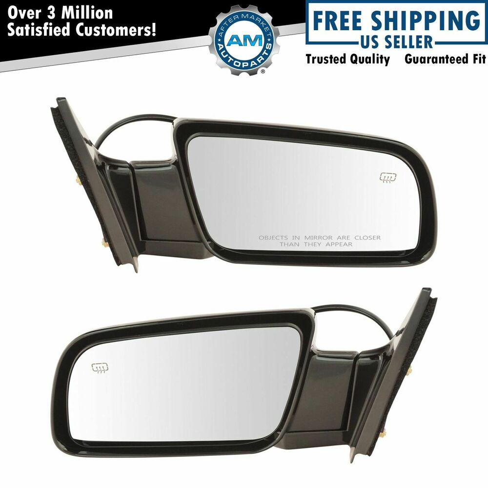 Power Heated Side View Mirrors Folding Left  U0026 Right Pair