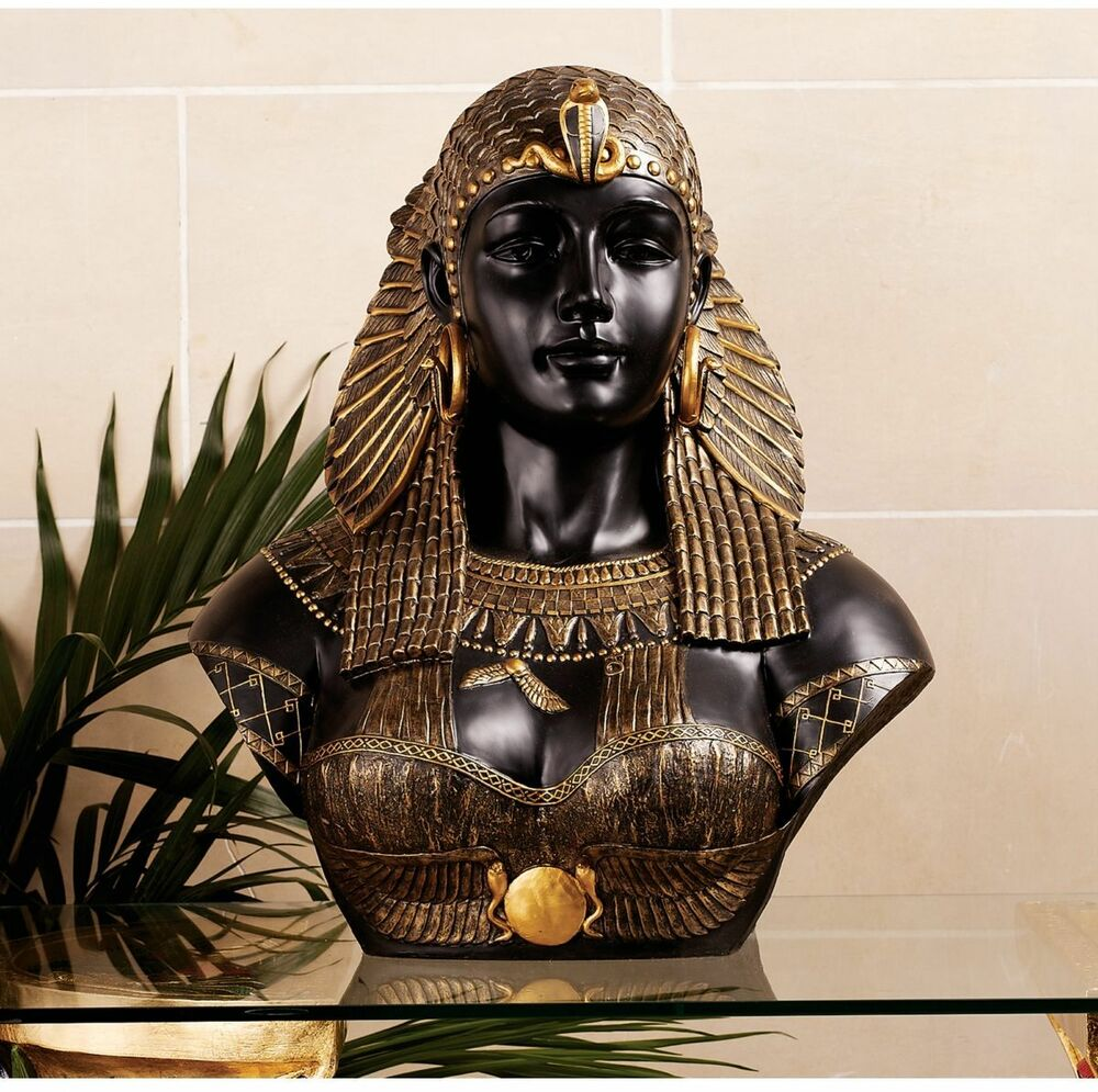 Neoclassical queen of the nile cleopatra bust sculpture for Original sculptures for sale