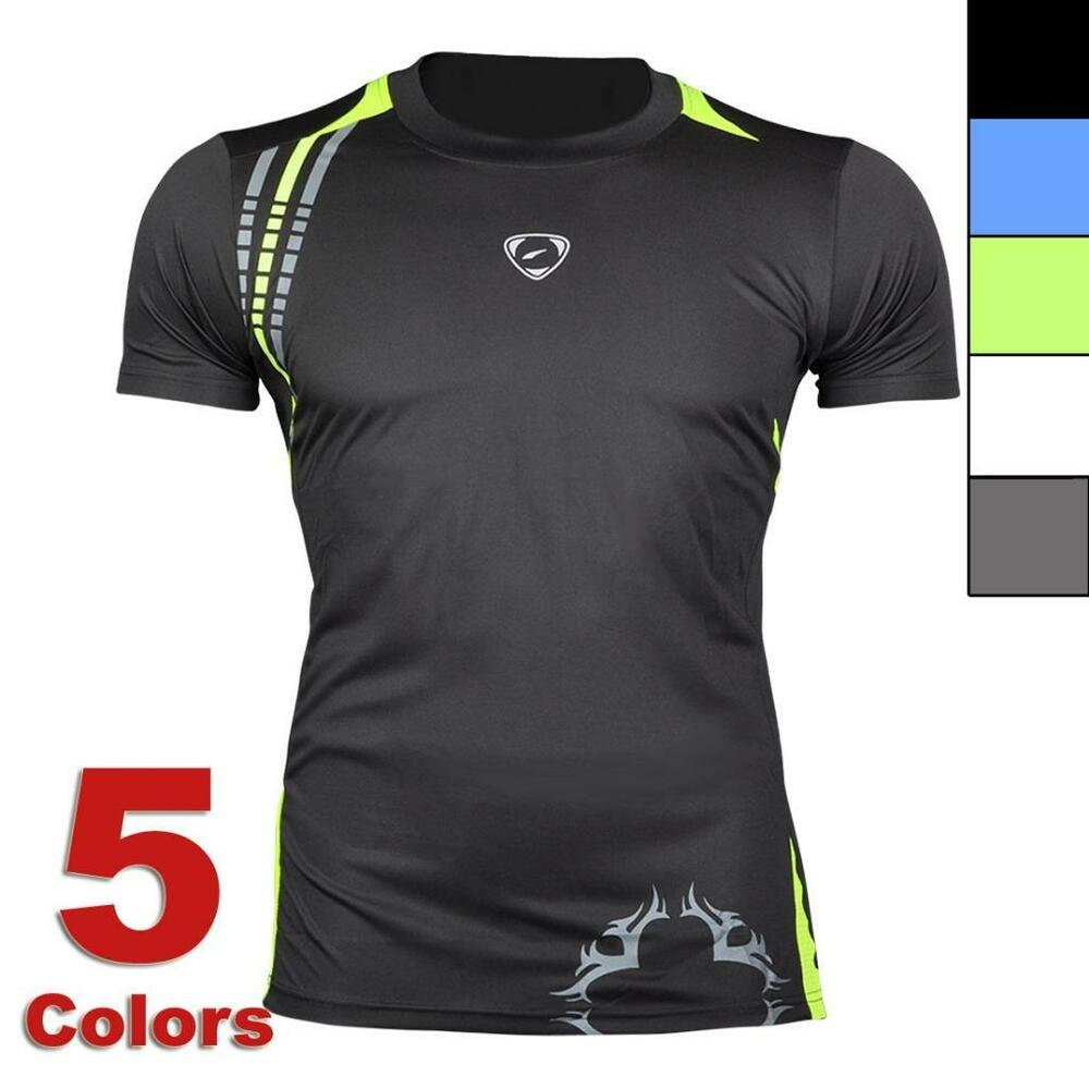 jeansian mens sport quick dry stretch t shirts top athletic tee 5 colors lsl1052 ebay. Black Bedroom Furniture Sets. Home Design Ideas