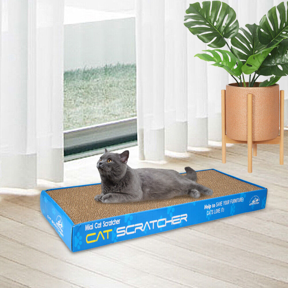 Panther Print Cat Toy Scratching Corrugated Board Scratcher Bed Pad