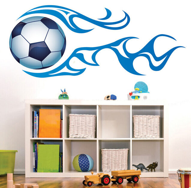 wandtattoo fussball fu ball sport wand aufkleber sticker kinderzimmer wohnzimmer ebay. Black Bedroom Furniture Sets. Home Design Ideas