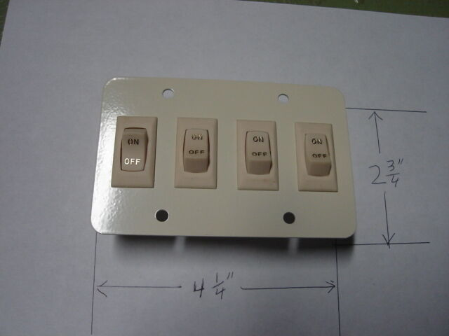 RV 12 volt WALL LIGHT SWITCH cargo trailer van NEW 4-gi camper motorhome eBay