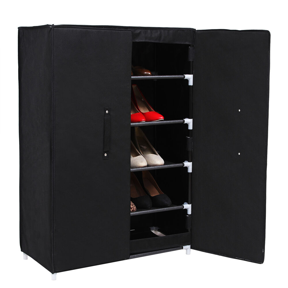6 ebenen schuhschrank schuhablage schuhregal schuhst nder mit t r rxa16h ebay. Black Bedroom Furniture Sets. Home Design Ideas